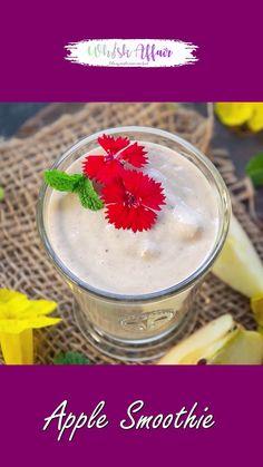 Apple Smoothie Recipes, Apple Smoothies, Easy Smoothies, Smoothie Drinks, Apple Shake Recipe, Green Smoothies, Breakfast Smoothies, Weight Loss Recipe Indian, Margarita Bebidas
