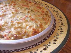 Rice and Veggie Alfredo Pie