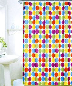 Circles Shower Curtain & Hook Set by Bathroom Basics: Organization & More on #zulily
