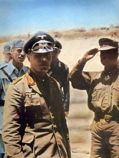 Rommel on a color photo