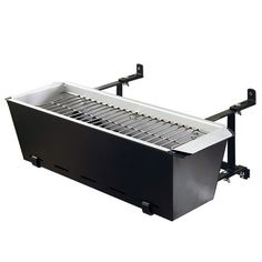 BBQ Bruce Geländergrill - it's for apartment/condo dwellers like myself. It hangs on the balcony! So now you can have a small BBQ without the big pit.