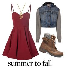"""""""Summer to Fall"""" by fashionsetter-359 ❤ liked on Polyvore featuring Glamorous, Steve Madden, Moschino and Lucky Brand"""