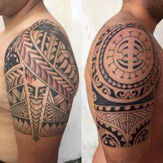 Photo by (chile_tatuajes) on Instagram | #freehand #chiletattoo #maori #maoridesign #maoritattoo