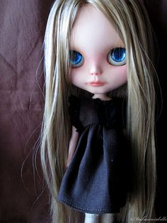 Blythe Doll Outfit / Dress / 1/6 doll size/ black by Dakawaiidolls, $15.00