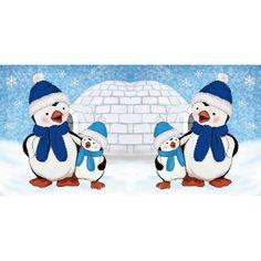 Prickel-Karte, Pinguine, 16 x 16 cm | Weihnachts-Deko | Basteln Weihnachten | Bastelbedarf für Anlässe | Ideen mit Herz