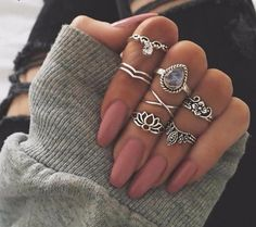 Enjoy one of our favorite women's accessories, the 7 Piece Gypsy Ring Set! Designed with our customers in mind, this adorable set features rings that were crafted with durable zinc alloy in multiple designs. You can mix and match them one or two at a time or wear the entire set at once, it's totally up to you. Wear out rings to the beach, at school, for photo shoots, everyday or on special occasions. Note: Please view the last image for ring measurements and then compare with our ring sizing…