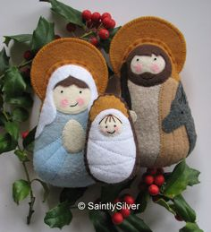 QUICK SHIP... Small Nativity Felt Saint Softie by SaintlySilver