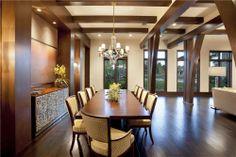 Dining room view design by John Balistreri, Bali Design Group. Interior furniture design by Marc-Michaels Interiors.