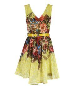 Lime Rose Karen A-Line Dress - Darling