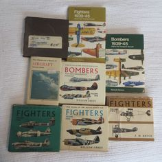 Bombers Fighters War Planes Military Book Lot 8 WWl WWll Bruce Green Munson