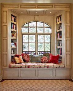 A cosy reading nook