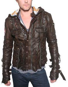 JUNKER DESIGNS - STRAPPED Leather Jacket