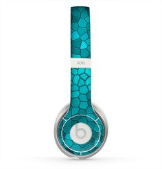 The Abstract Blue Tiled Skin for the Beats by Dre Solo 2 Headphones