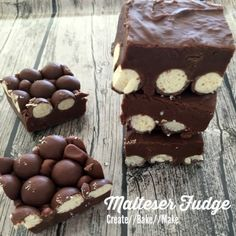 It was while flipping through a magazine that I came across this recipe for Malteser Fudge. I knew that I just HAD to make it, so I subtly took a photo of the recipe on my phone and promised myself I would be making this the next day Fudge Recipes, Cheesecake Recipes, Baking Recipes, Milk Recipes, Chocolate Recipes, No Bake Slices, Oh Fudge, Baking Tins, Tray Bakes