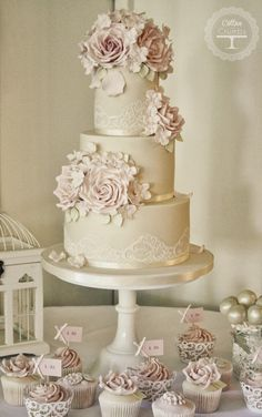 Romantic creation ~ Cake Design: Cotton and Crumbs[ BookingEntertainment.com ] #weddingcake