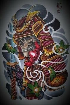 I seriously love the different shades, lines, and depth. This is an excellent choice if you want inspiration for a Japanese Drawings, Japanese Tattoo Art, Japanese Art, Japanese Tattoo Samurai, Tattoo P, Hannya Tattoo, Kabuto Samurai, Samurai Mask Tattoo, Chinese Tattoo Designs