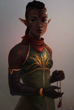 f High Elf Druid community forest hills Dragon Age: Inquisition - Inquisitor Lavellan, by zootart Fantasy Races, Fantasy Rpg, Medieval Fantasy, Dark Fantasy, Black Characters, Dnd Characters, Fantasy Characters, Female Characters, Character Portraits