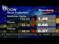 Les indices boursiers du 16 mars 2016
