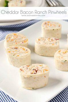 Cheddar Bacon Ranch Pinwheels | 23 Adorable Pinwheel Foods To Make For Someone You Love