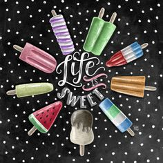 Life Is Sweet Popsicle Print Chalkboard Art Summer Kitchen Decor Chalk Art printables Summer Chalkboard Art, Blackboard Art, Chalkboard Drawings, Chalkboard Print, Chalkboard Lettering, Chalkboard Designs, Chalkboard Ideas, Chalkboard Pictures, Popsicle Art