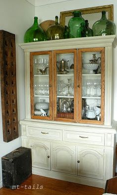 Collection of bottles...Furniture Transformations