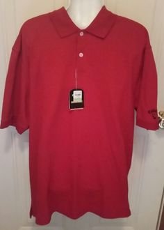 Callaway Men's Golf Polo Size Medium Comfort Performance Sport Red  | Sporting Goods, Golf, Golf Clothing, Shoes & Accs | eBay!
