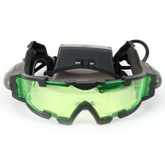 Hot Saling JYW-1312 Night Vision Goggles Firecrackers Protective Goggles with Flip-out Lights for Both Adult and Child