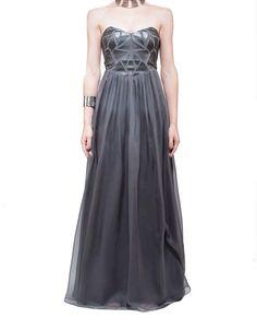 GEOMETRIC PANEL GOWN - BARIANO 1 WINTER 2013 : Dresses-Bridesmaid : Bariano - Fashion Designer Australia