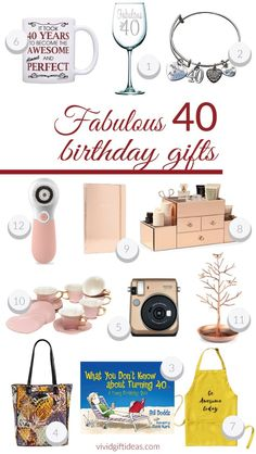40th Birthday Gifts For Women Best Presents Her Forty