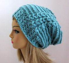 Knitting Pattern for Slouch Hat Beanie Tam by WomanOnTheWater, $3.50