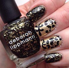 Stunning black & gold
