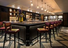 The lobby bar at The Birchwood on Beach Drive, St. Petersburg