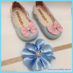 Sua princesa já está pronta para comemorar o Dia das Crianças?   Sapatilha e faixa disponível em www.purezababy.com.br
