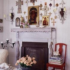 Catholic home decor.  No link, but really nice picture!