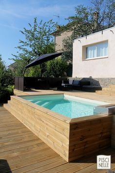 terrasse en cumaru avec marches pour piscine hors sol jeleveux pinterest design et art. Black Bedroom Furniture Sets. Home Design Ideas