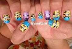 My Minion Nails!  So much fun to have these little guys on my fingers!