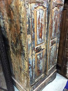 16 Best Indian Rustic Wardrobe Images Antique Armoire Indian