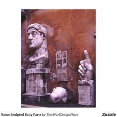 Rome Sculpted Body Parts Postcard