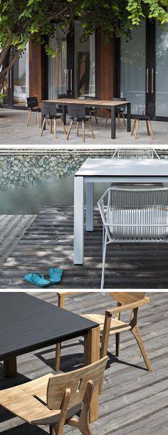 Mit Dem Tisch Machar Von Oasiq Hat Man Einem Modernen Esstisch Für Drinnen  Und Draußen,