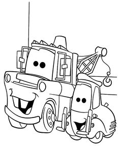 mater tow truck coloring pages - photo#14