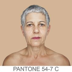 humanæ series by Angelica Dass. Matching pantone backdrops based on skintone.