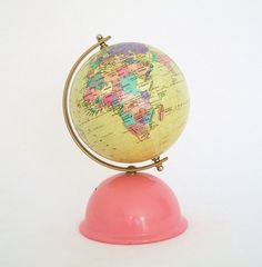 Vintage World Globe Bank - Korea's Premier Globe Maker - Seo Jeon - # World Globe Map, Globe Art, World Globes, Map Globe, Vintage Globe, Vintage Maps, Travel Wallpaper, We Are The World, Korea