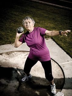 Shot Put, Old Folks, Senior Fitness, Badass Women, Fierce Women, Aged To Perfection, Young At Heart, Ageless Beauty, Aging Gracefully