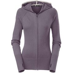 The North Face Women's Galena Full Zip Sweater (€39) ❤ liked on Polyvore featuring tops, sweaters, greystone blue, the north face sweaters, raglan sleeve top, ribbed sweater, hooded top en raglan sweater