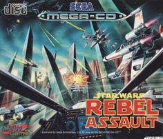 Star Wars Rebel Assault on Sega Mega CD Vintage Video Games, Vintage Videos, Starwars, Sega Cd, Evil Empire, Star Wars Games, Sega Saturn, Star Wars Rebels, Video Game Art