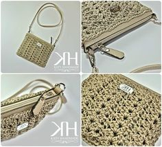 • Zipper clutch • Free crochet pattern available - Fantasy stitch By KATY HANDMADE