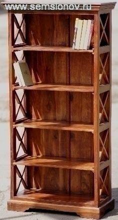 Средняя книжная полка из массива красного дерева