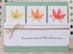 Did You Stamp Today?: Thank You with Spring Flowers - Fab Friday 108 - Stampin' Up! Avant Garden