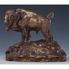Charles Marion Russell, Limited Edition Bronze Buffalo Sculpture, Number 12 of 24 1960, #822. This is just gorgeous!
