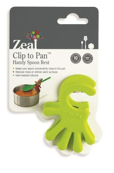 Zeal Silicone Spoon Rest. Cool kitchen #gadget #SpoonRest #Zeal #Silicone